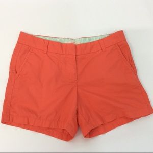 J. Crew Orange Chino Broken In Shorts 10 Cotton